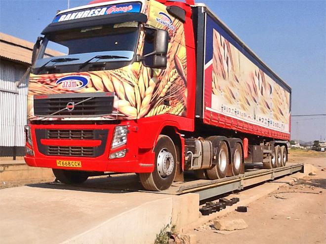 出口加纳分体式电子地磅汽车衡